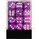 Ver artículos de Chessex - Caja de 36 dados Festive violet/white
