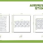 Ver artículos de Bandua  - Plantillas aerograf�a DIAMOND PATTERN 1