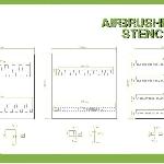Ver artículos de Bandua  - Plantillas aerograf�a SLOPING STRIPES 1