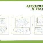 Ver artículos de Bandua  - Plantillas aerograf�a CAMMO PATTERN 1